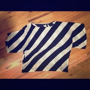 INC Striped semi-sheet shirt